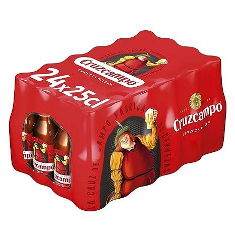 Cruzcampo Cerveza - Paquete de 24 x 250 ml - Total: 6000 ml: Amazon.es: Amazon Pantry