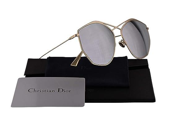 aca7d577dec8 Amazon.com  Christian DiorStellaire4 Sunglasses Gold w Silver Mirror ...