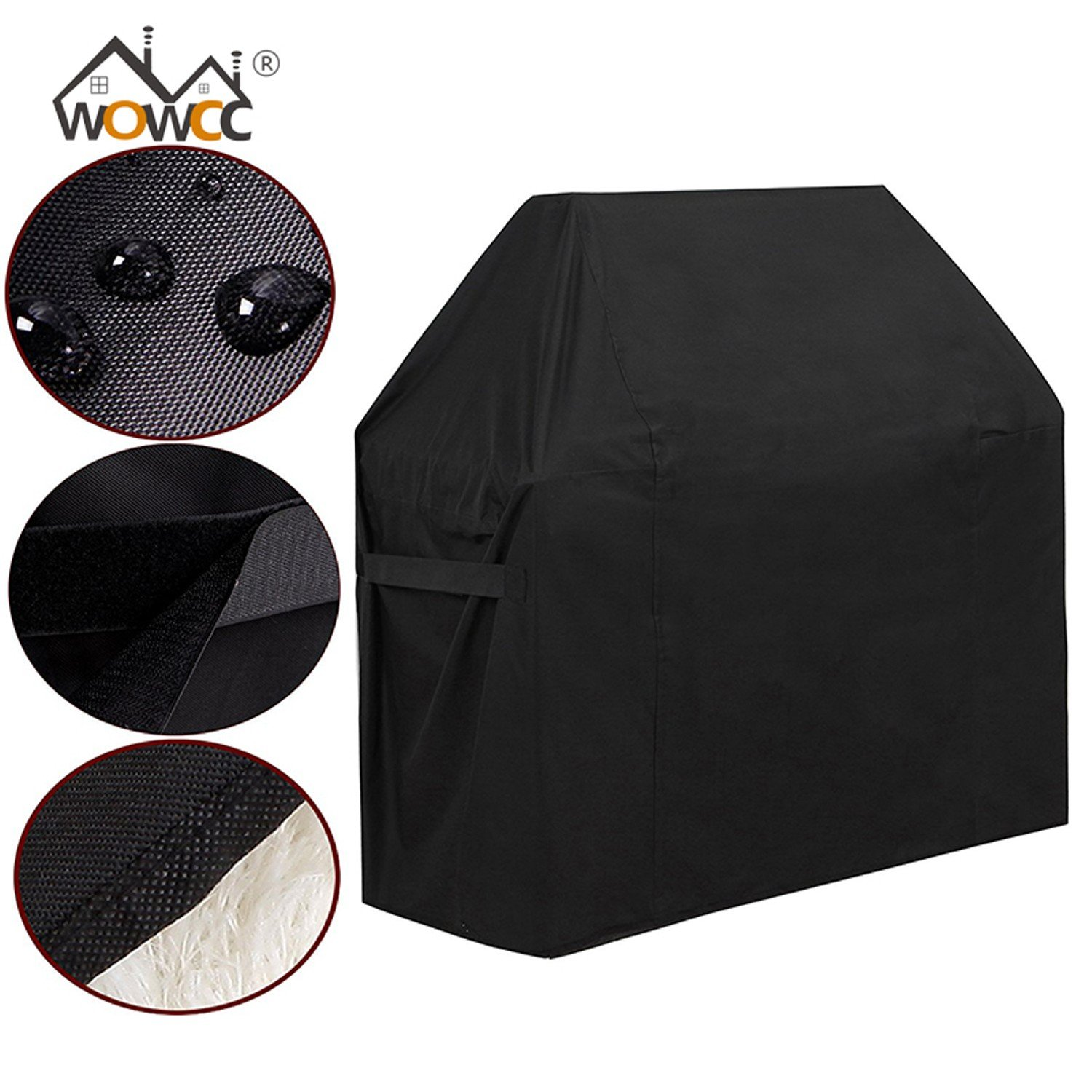 Amazon.com : WOWCC 1Pc Outdoor BBQ Grill BBQ Cover Garden Storage Waterproof Barbecue Grill Cover Barbacoa Anti Dust Protector Barbeque Accessories (Round ...