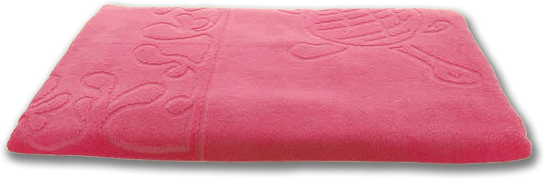 Motiv Schildkr/öte XXL Strandtuch 100x200cm Rosa 100/% Baumwolle 380g//m2