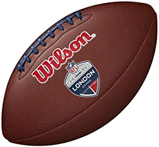 WILSON NFL London Games 2018 Team Match Up Logo Composite Football [Marron]