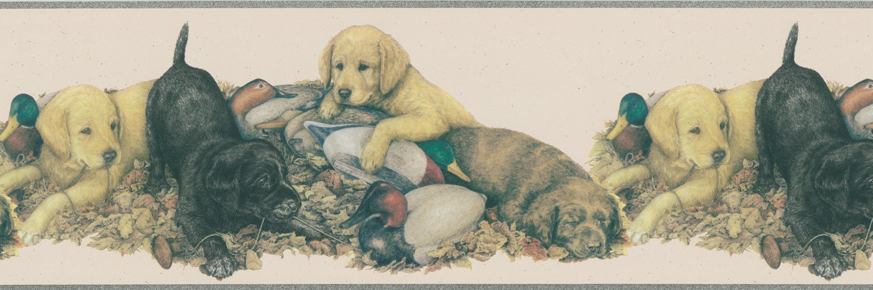 Brewster 418B091 Borders and More Dogs & Ducks Wall Border, 9-Inch by 180-Inch