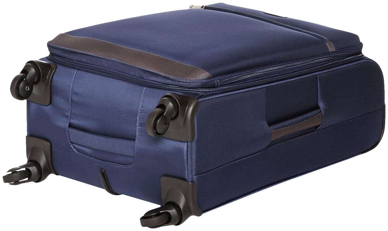 Basics Softside Spinner Luggage Suitcase 25 Inch Navy Blue
