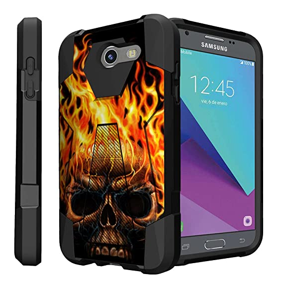 Untouchble Case for Samsung Galaxy J3 Eclipse, Sol 2, J3 Mission Case, J3  Prime Case [Traveler Series] Durable Two Layer Bumper Shell with Kickstand  -