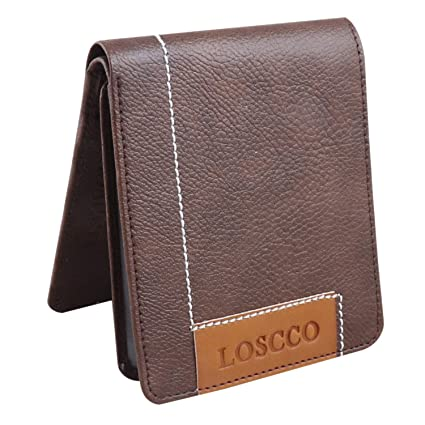 Loscco Men's Wallet Brown Artificial Leather