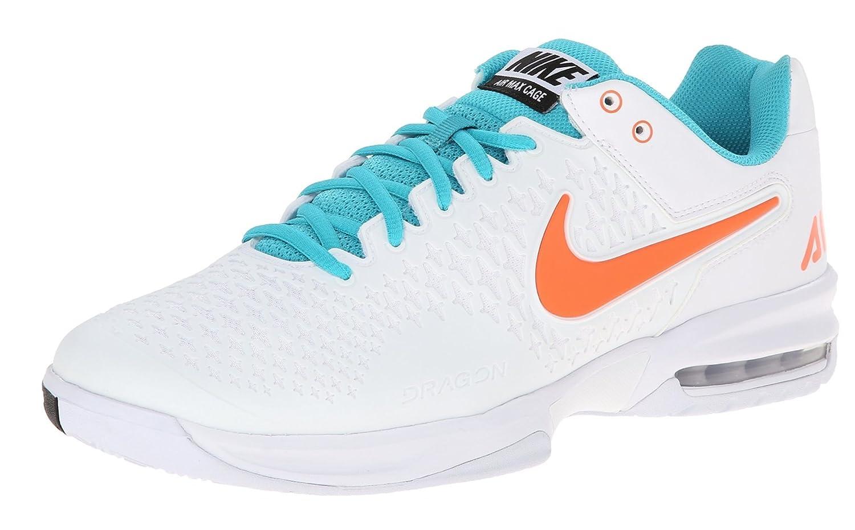 meet 2b670 ed068 Amazon.com  Nike Mens Air Max Cage Tennis Shoes (6, WhiteHyper  Crimson-Dusty Cactus)  Skateboarding