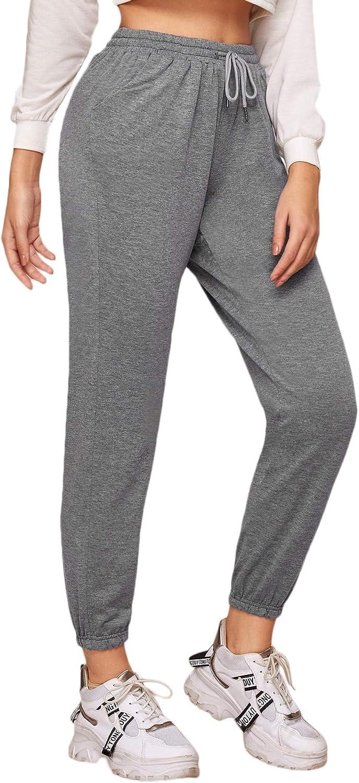 SOLY HUX Pantalon De Sport Femme Coton Pantalon De Surv/êtement Long pour Jogging Running Fitness Casual
