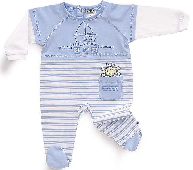 JACKY - Pelele para Dormir - para bebé niño Azul 3 Mes