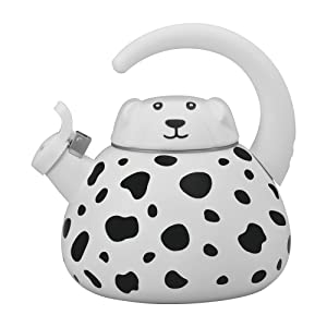Gourmet Art Dalmatian Enamel-on-Steel Whistling Kettle