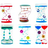 Valley Mall Dual Color Bubble Drop Desk Fun Swirl Magic Water Timers (4-PACK (ASSORTED))