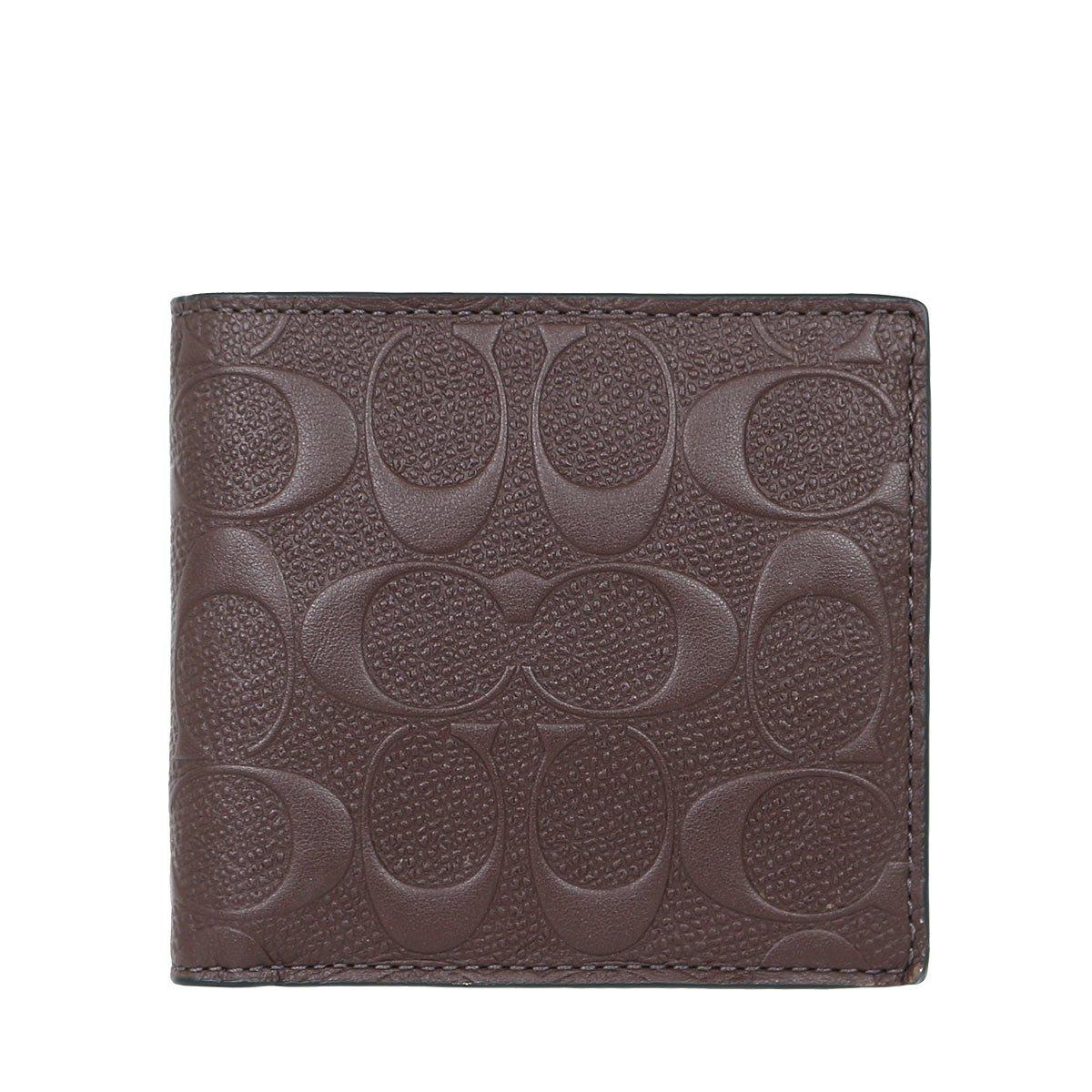 [コーチ] COACH 財布 (二つ折り財布) F75363 シグネチャー メンズ レディース [アウトレット品] [並行輸入品] B0735FSFWM マホガニー マホガニー