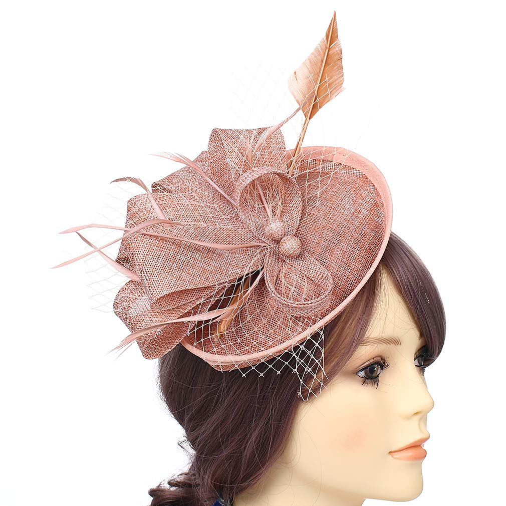 RongHui Crafts Fascinators for Women Flower Mesh Hat Derby Party and Tea Party Headwear
