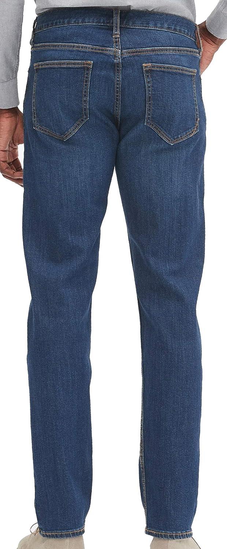 Medium wash Banana Republic Mens 261464 Straight-Fit Stretch Medium-Wash Jean