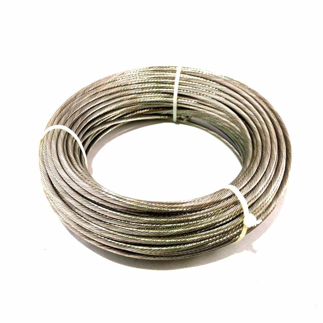 1/8 Steel Cable 1×19 Strand - T316 'Marine Grade' Stainless - 100′ Feet Generic TC316