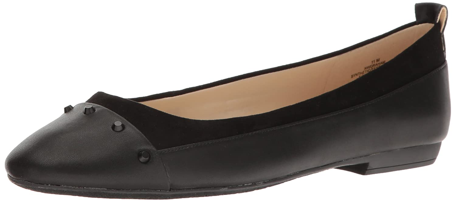 Nine West Women's Graham Patent Ballet Flat B01LVVEZLC 9 M US|Black
