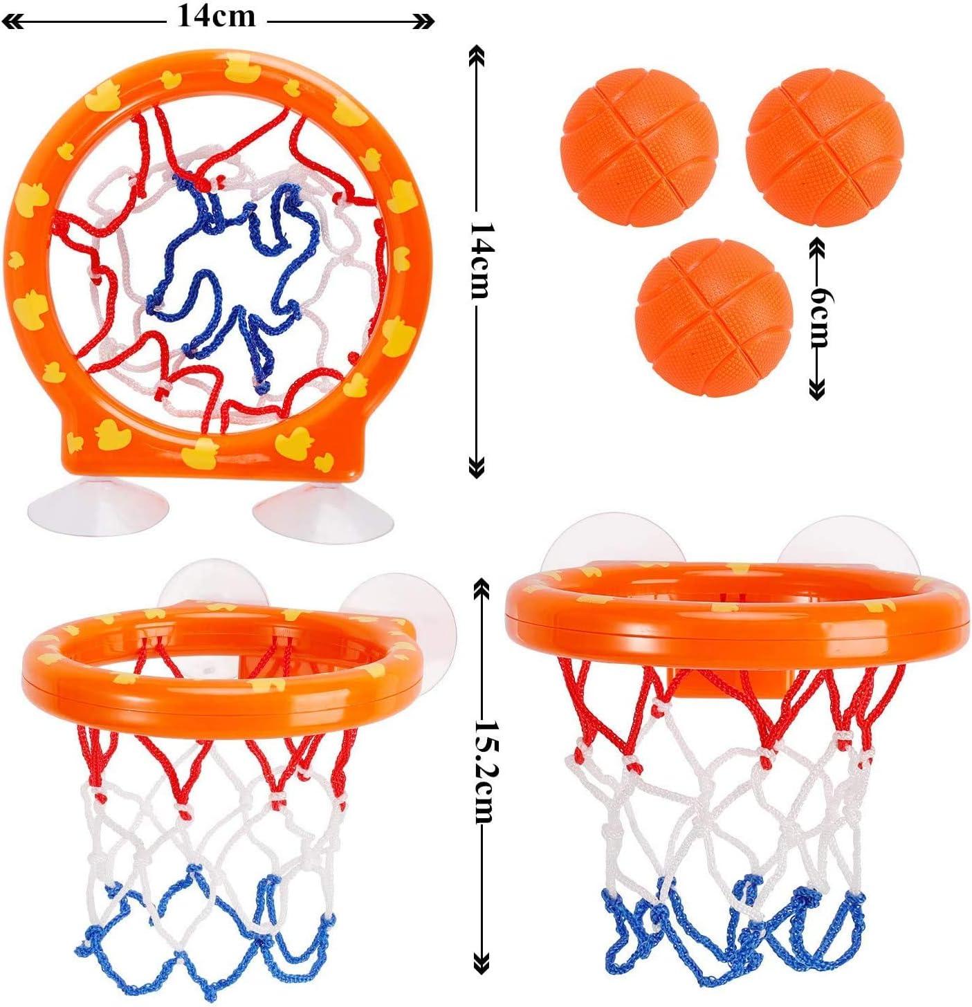 y 3 Bola,Mini Baloncesto aro Set,Juguete para el ba/ño de Baloncesto y aro Juego Creativo para ba/ñarse en la ba/ñera para ni/ños con Ventosas gotyou Juguetes de ba/ño-Canasta Baloncesto Infantil Ba/ñera