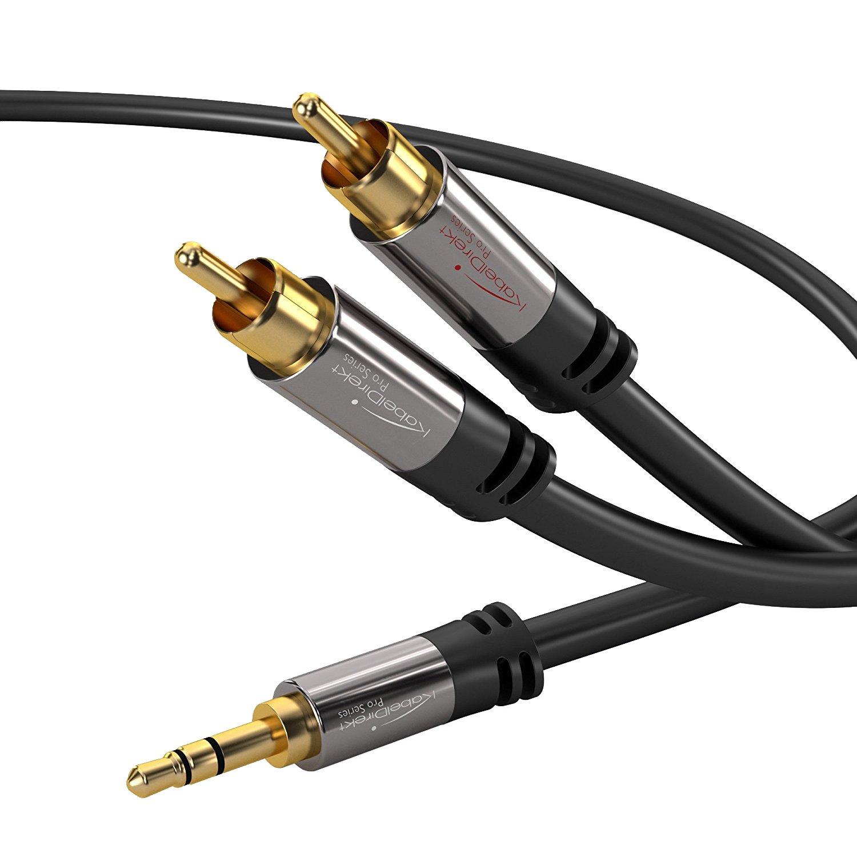 KabelDirekt 5m 3.5mm auf 2 Cinch Y Kabel - PRO Series: Amazon.de ...
