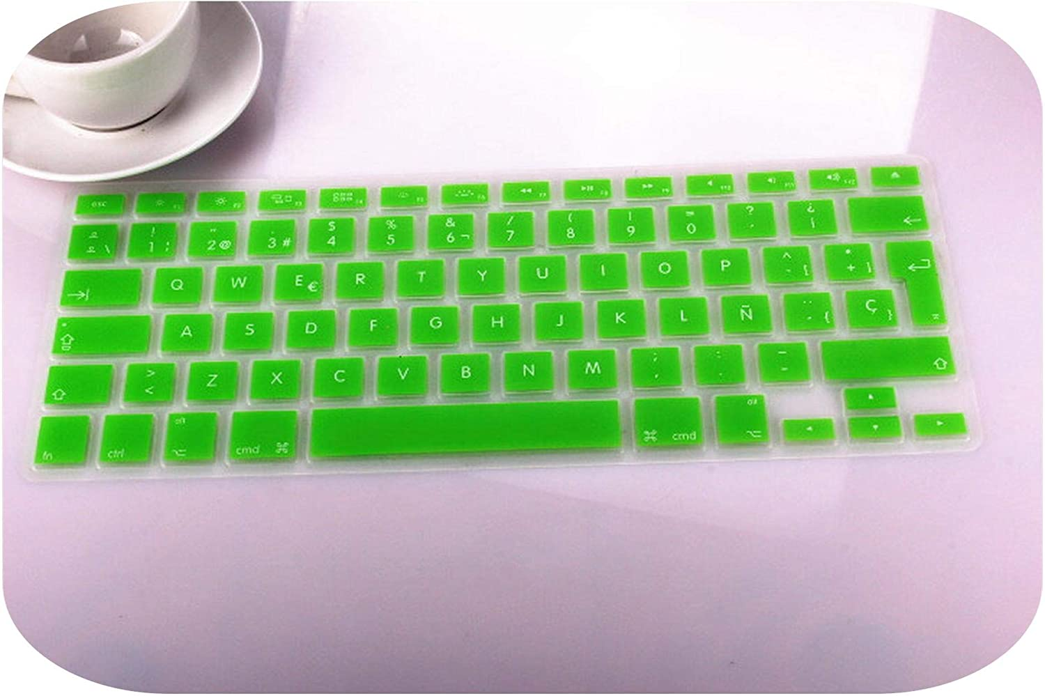 Film Pour Clavier for Mac MacBook Pro 13 15 17 Air Retina 13 Euro EU Spainish Translucent Keyboard Protector Cover for Mac Book-Yellow 2Pcs