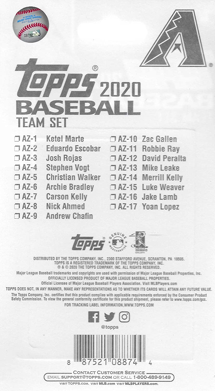 Arizona Diamondbacks 2020 Topps Baseball Factory Sealed Special Edition 17 Card Team Set with Jake Lamb and Ketel Marte Plus