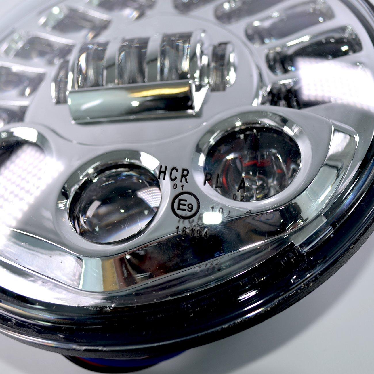LED Scheinwerfer 7 Zoll Daymaker Standlicht passend f/ür Harley Davidson Modelle chrome