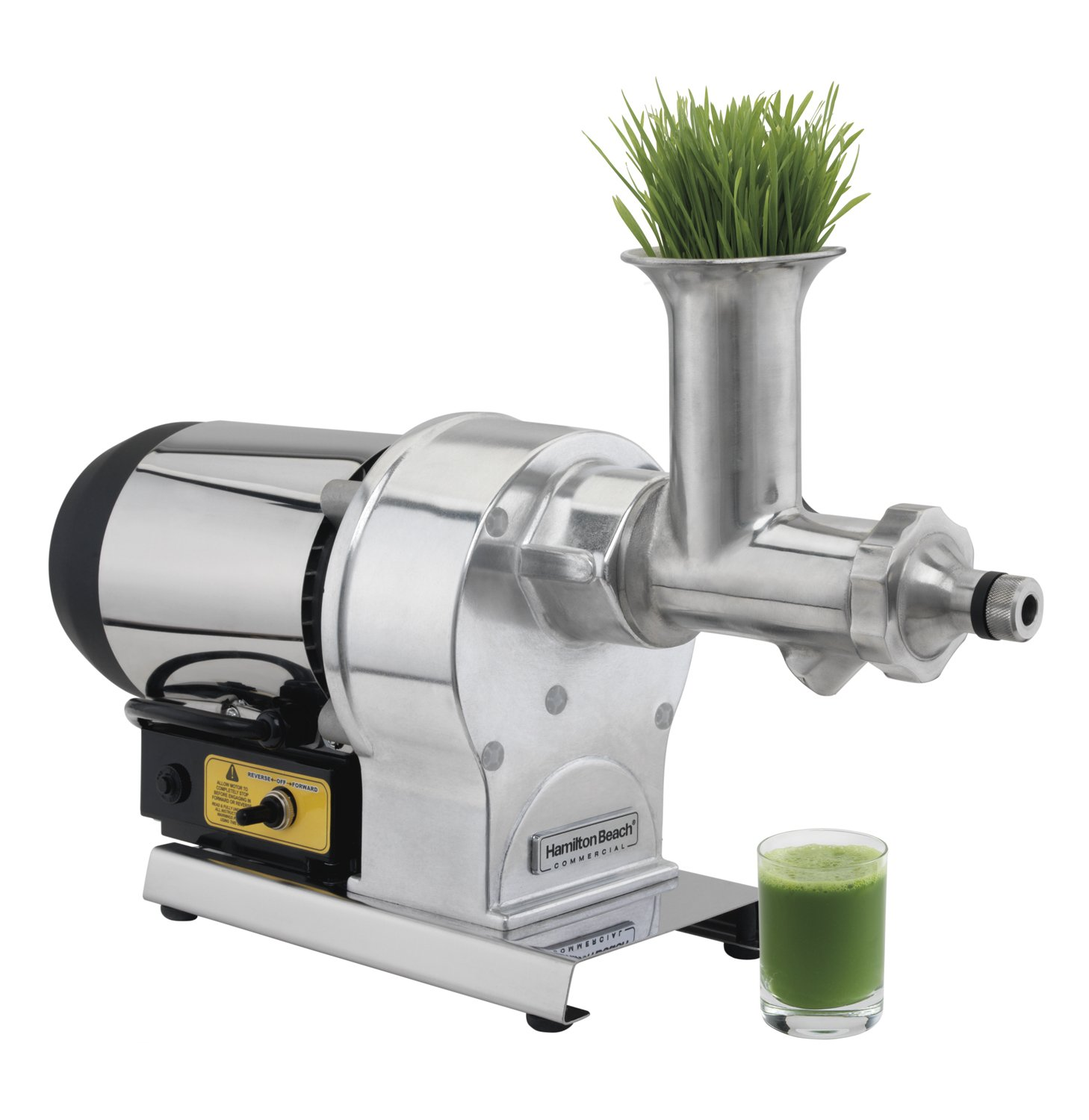 "Hamilton Beach Commercial HWG800 Wheatgrass Juicer, 12"" Height, 23.03"" Width, 7.09"" Length, Stainless Steel"