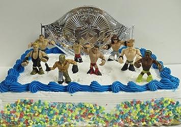 9 Piece WWE Wrestler Rumblers Wrestling Birthday Cake Topper Set