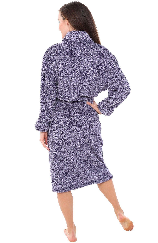 Alexander Del Rossa Womens Fleece Robe, Plush Microfiber Bathrobe, Large XL Two Tone Purple (A0302CDPXL) by Alexander Del Rossa (Image #2)