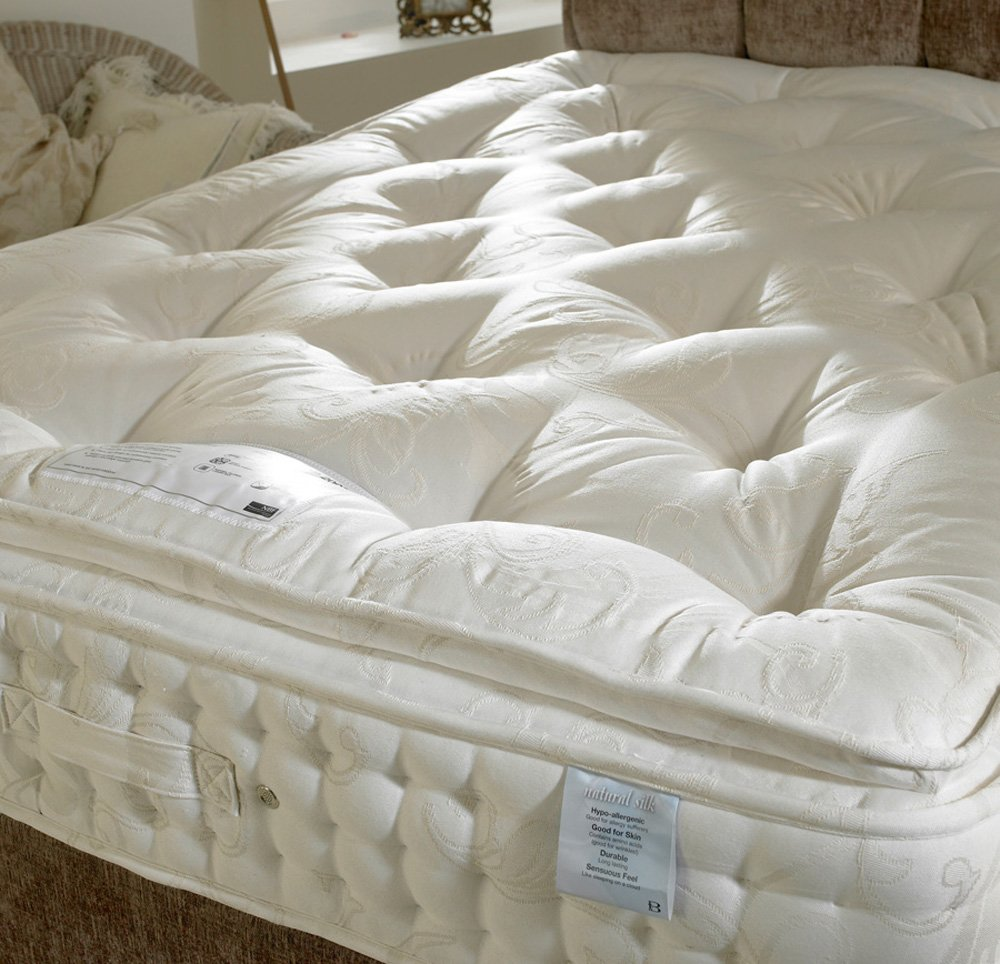 Happy Beds 2000 Pillow Top Cushioned Divan Bed Set With 2000 Pocket Sprung Mattress 2 Drawers One Per Side Headboard 5\u0027 King Size 150 x 200 cm: ... & Happy Beds 2000 Pillow Top Cushioned Divan Bed Set With 2000 ... pillowsntoast.com