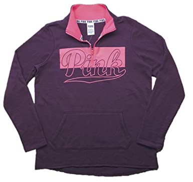 Victoria's Secret Pink High Low Half Zip Sweatshirt at Amazon ...