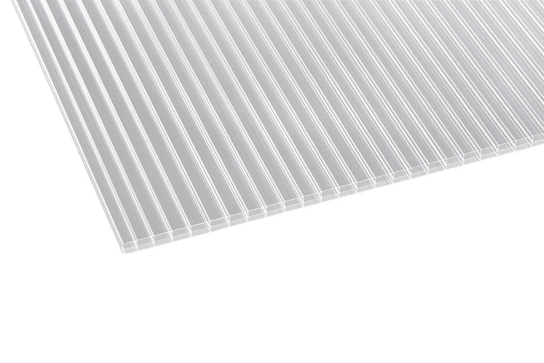 Terrassendach 16 mm aus Polycarbonat in OPAL WEISS Hohlkammerplatten Stegplatten 250x98x16 Doppelstegplatten