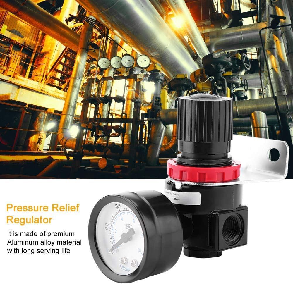 G1//4 0.05~1Mpa AR2000 Good Sealingit Pressure Gauge Relief Regulator Valve Air Control Compressor with Gauge Can Protect Air Tools Valve WZ-WZ Pressure Regulator Valve