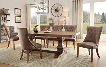 Nice Homelegance Marie Louise 9 Piece Dining Room Set In Rustic Brown