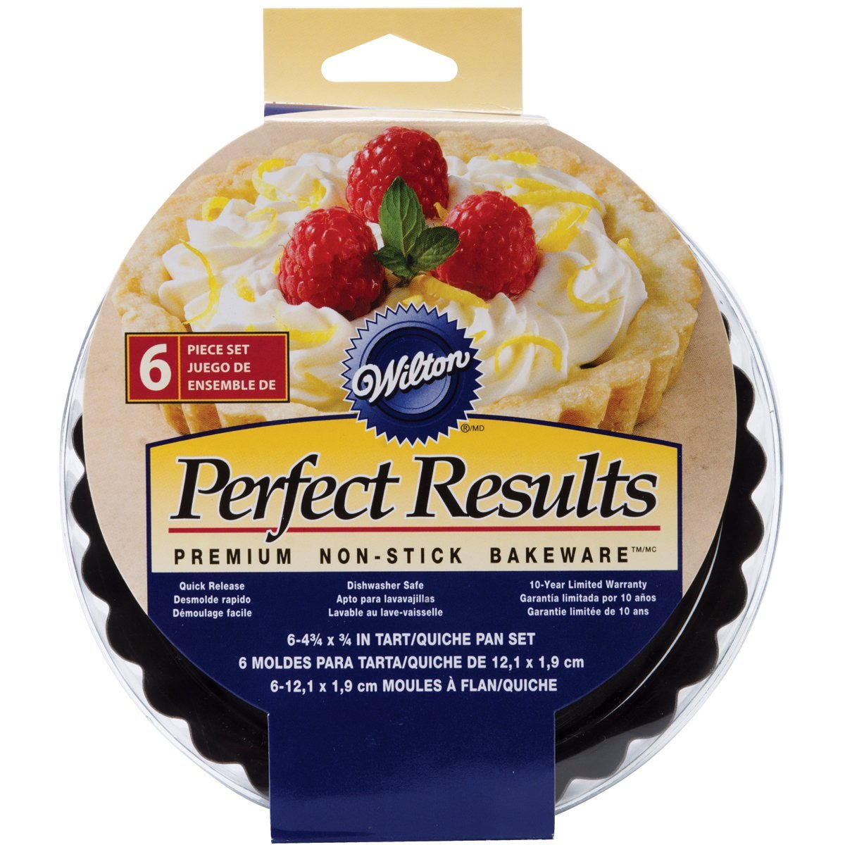 Wilton Perfect Results Premium Non-Stick Bakeware Round Tart and Quiche Pans, Sunday Brunch May Never be the Same Again, Fluted Edges Add a Touch of Flair, 4.75 Inch, Set of 6 by Wilton