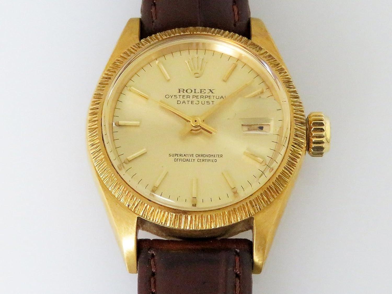 ロレックス ROLEX デイトジャスト 6927 シャンパン文字盤 レディース 腕時計 【中古】 B077RYQ989