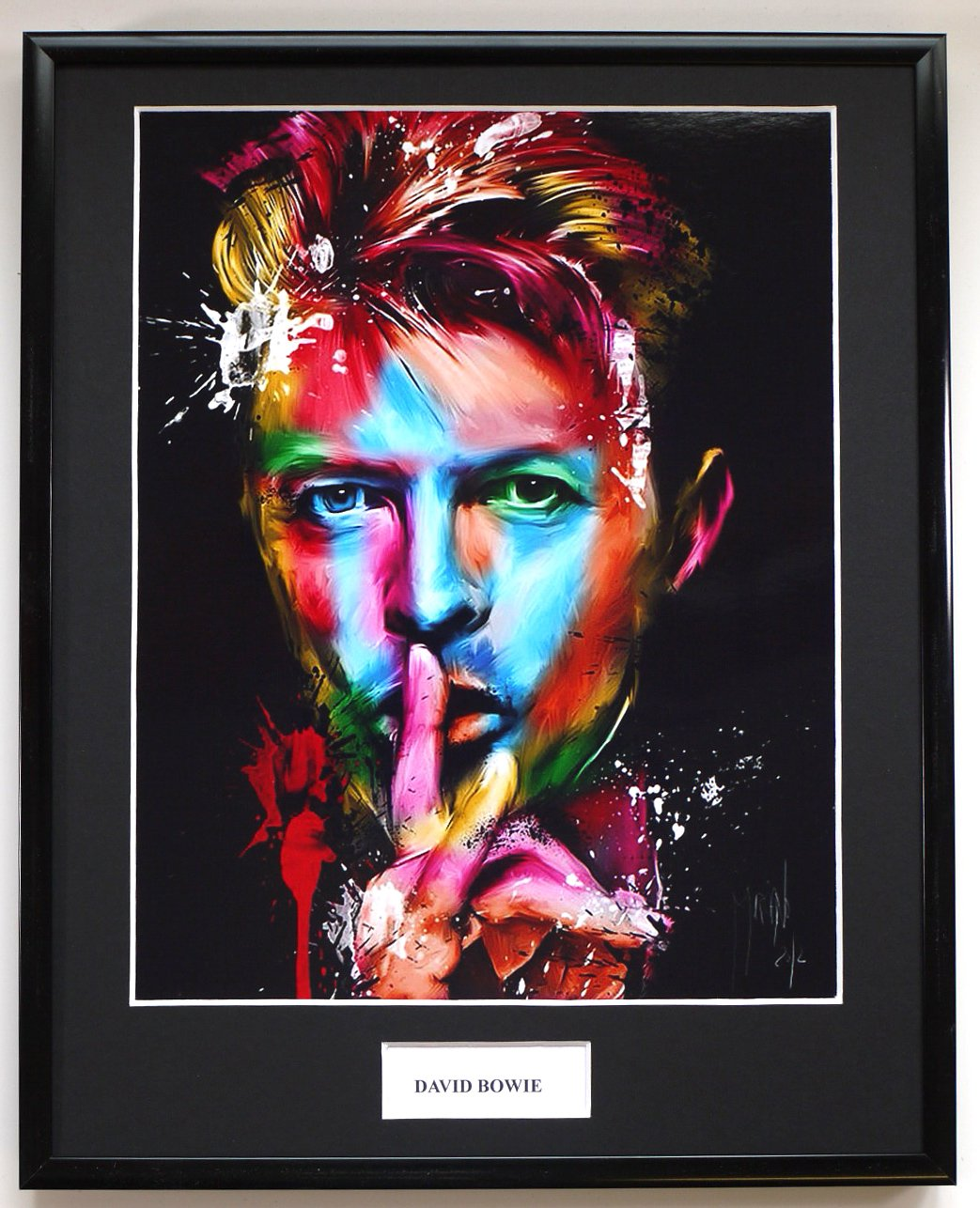 DAVID BOWIE/FRAMED PHOTO EC