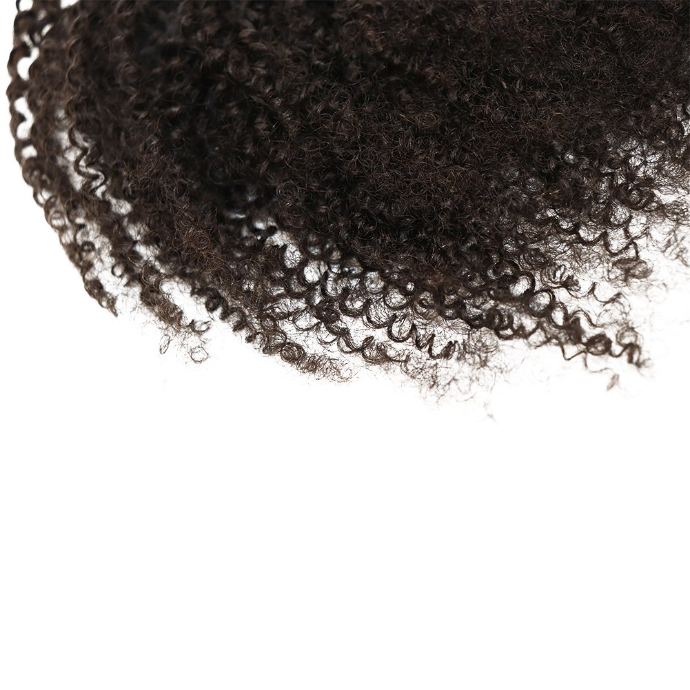 Afro Kinky Curly human hair ponytail extensions Kinky Curly drawstring human hair ponytail hairpieces natural curly clip in ponytail (18) by EIAKE