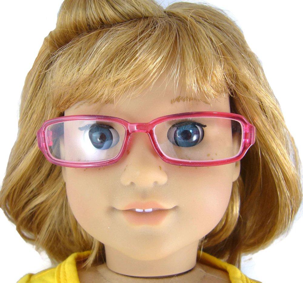 ピンクプラスチック眼鏡Made B00ZINYFPA for 18インチアメリカンガール人形 for B00ZINYFPA, イーグルアイ:44617a9b --- arvoreazul.com.br