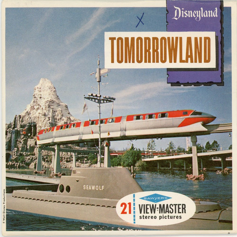 ViewMaster 3 Reel Set - Disneyland Tomorrowland - Monorail Trip - 21 3D images from 1956-1959 by 3Dstereo ViewMaster (Image #1)