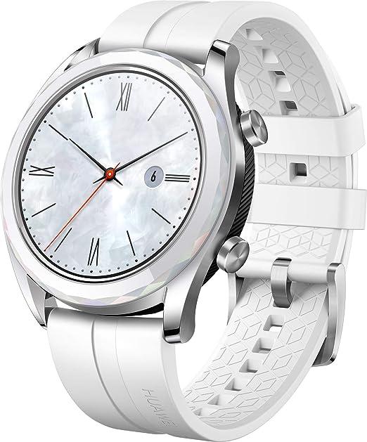 Huawei Watch Gt Elegant Smartwatch 42 Mm Amoled Touchscreen Gps Fitness Tracker Herzfrequenzmessung 5 Atm Wasserdicht Weiß Uhren