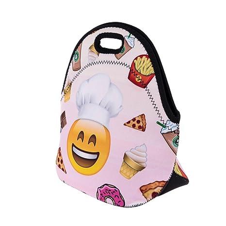 Lunch Bag térmico para lunch con cremallera Almuerzo caja de bolsas neopreno escuela trabajo bolso desayuno Cook [048]