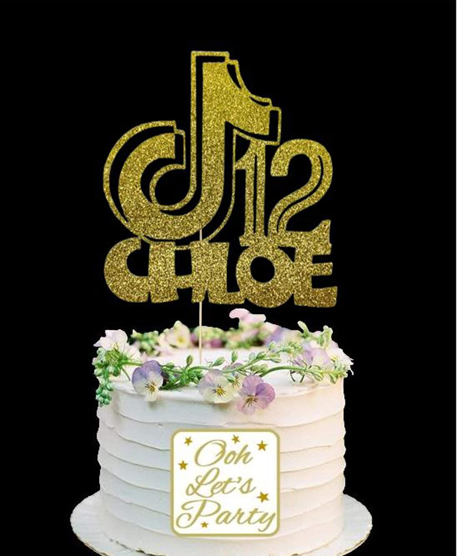 144 Choose Your Name /& Age Tik Tok Personalised Cake Topper Premium Cake Decoration