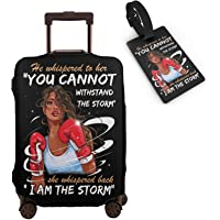 Tuizumy Travel Suitcase Protector African American Girl Elastic Protective Washable Luggage Cover With Concealed Zipper…