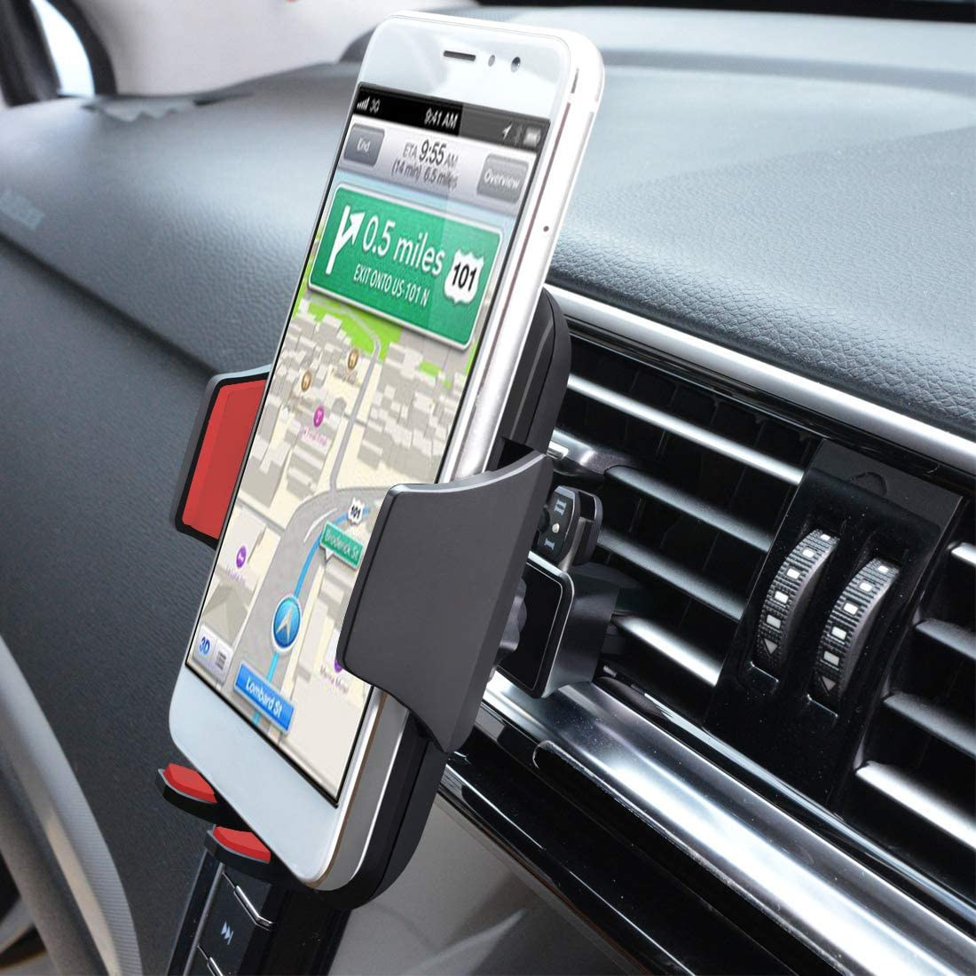 Car Phone Mount,Universal Air Vent Car Phone Mount Holder Compatible with iPhone Xs XS Max X 8 8 Plus 7 7 Plus SE 6s 6 Plus 6, Samsung,Galaxy S6 S7 S8 S9, Google,LG,Sony,Huawei,and Other Phones-red
