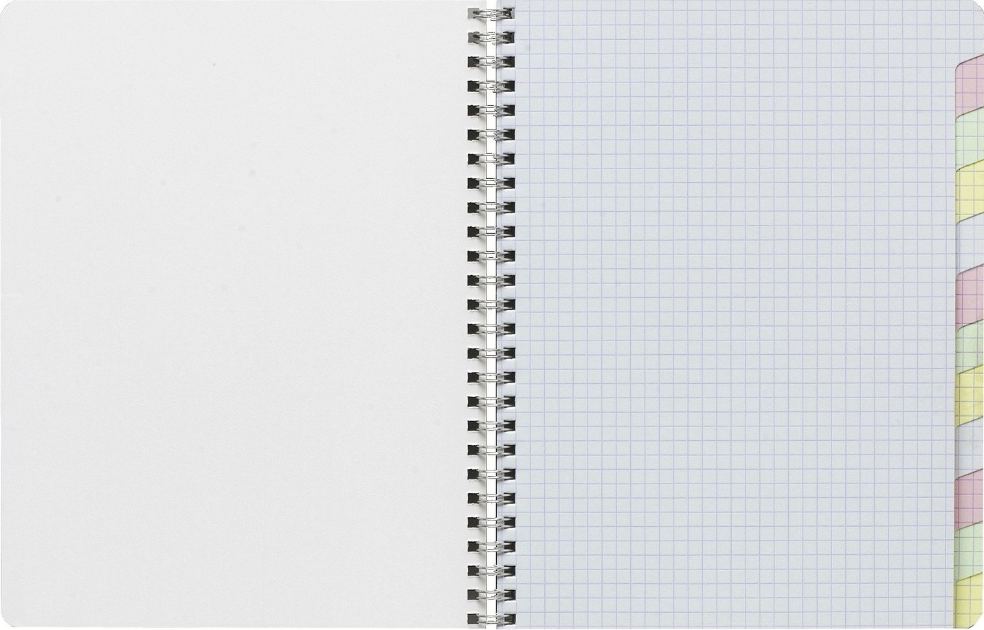 Clairefontaine Wirebound Multiple Subject Graph Paper Notebook 60 sheets with 12 tabs 6 3/4 in. x 8 5/8 in - Assorted colors 8959C LIB3329680895902