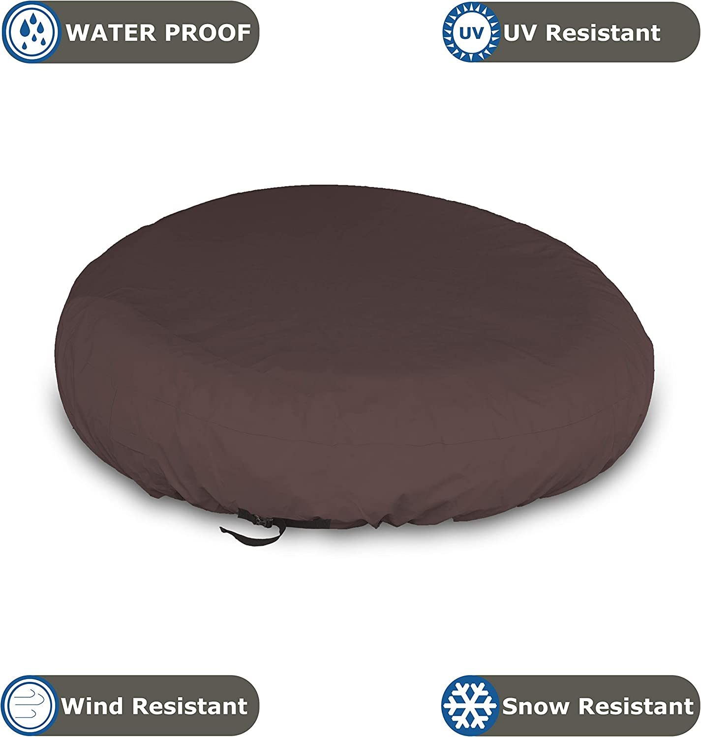 Beige 100/% UV /& Weather Resistant Patio Sofa Cover with Air Pockets and Drawstrap for Snug fit Outdoor Daybed Cover 12 Oz Waterproof