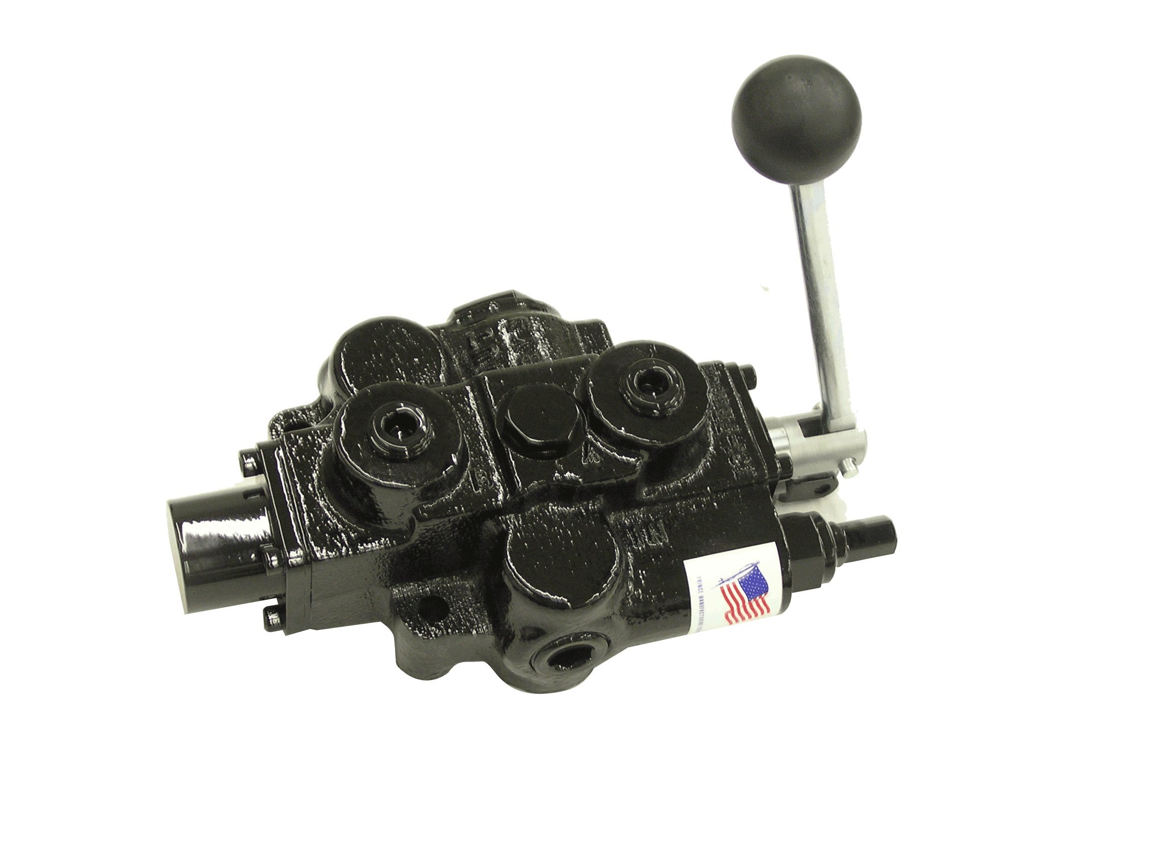 Prince RD512CA5A4B1 Directional Control Valve, Single Spool, 4 Ways, 3 Positions, Spring Center To Neutral, Cast Iron, 3000 psi, Lever Handle, 30 gpm, In/Out: 3/4'' NPTF, Work 1/2'' NPTF