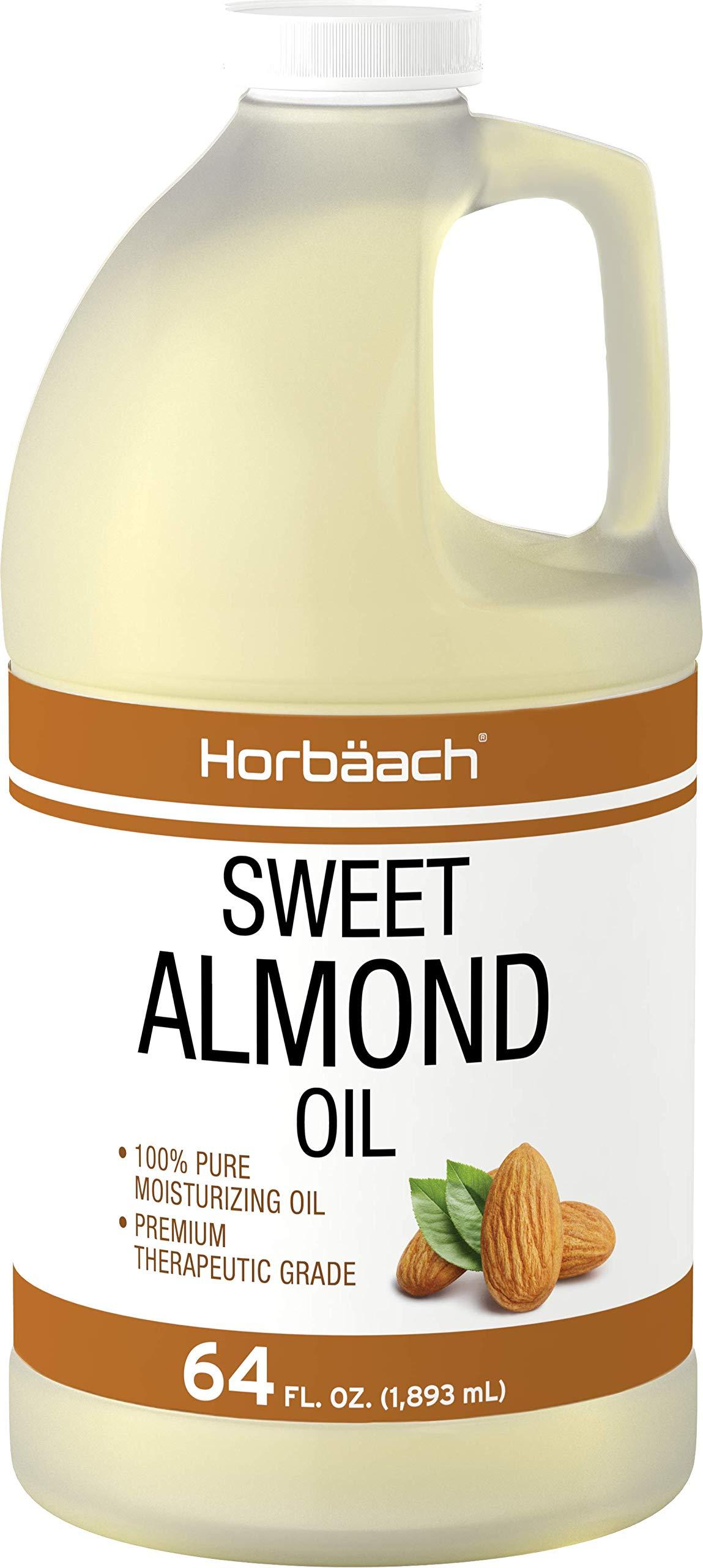 Horbaach Sweet Almond Oil 64 fl oz | Expeller Pressed | Vegetarian, Non-GMO