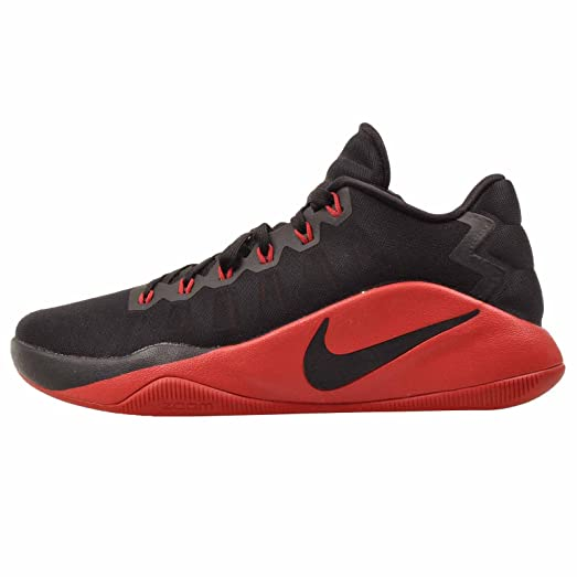 Nike Hyperdunk Low Basketball Shoes Black University red 844363 060 Size 15