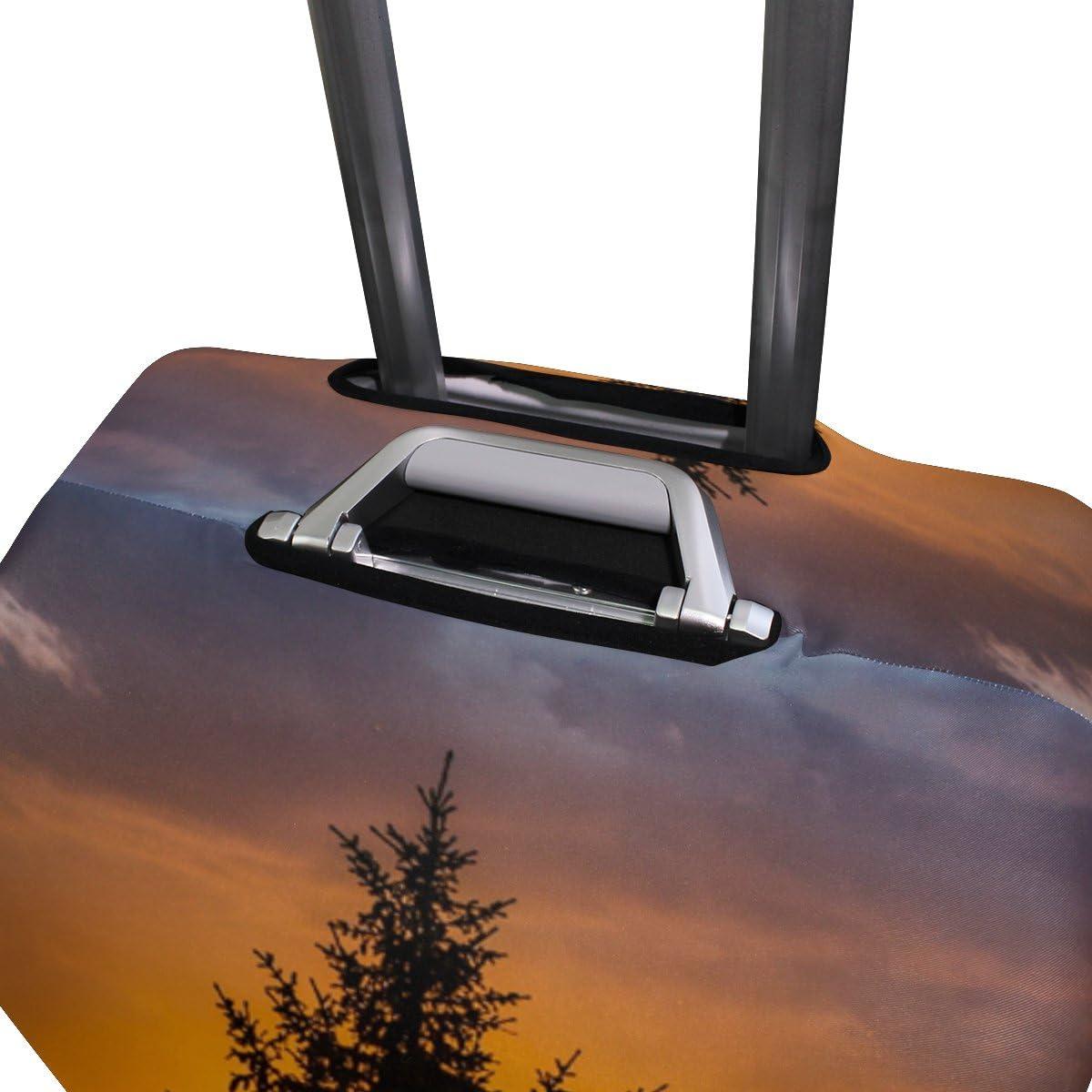 OREZI 3D Sunset Big Tree Luggage Protector Suitcase Cover 18-32 Inch