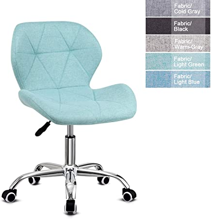 Euco Desk Chair Office Chair Padded Computer Chair For Kids Adjustable Height Swivel Chair Home Office Furniture Light Green Fabric Amazon Co Uk Kitchen Home